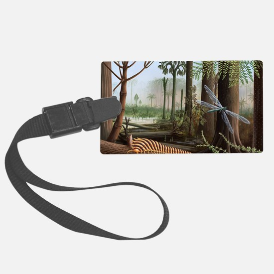 Carboniferous insects, artwork Luggage Tag