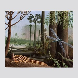 Carboniferous insects, artwork Throw Blanket