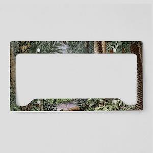 Carboniferous landscape License Plate Holder