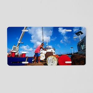 Cargo ship Aluminum License Plate