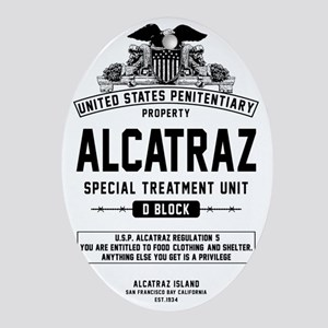 Alcatraz S.T.U. Oval Ornament