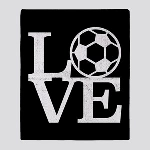 Love Soccer Throw Blanket