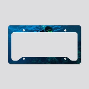 Child diver License Plate Holder