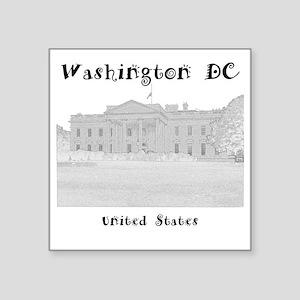 """WashingtonDC_12x12_WhiteHou Square Sticker 3"""" x 3"""""""