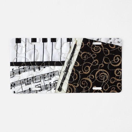 0505-laptop-oboe Aluminum License Plate