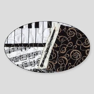 0505-laptop-oboe Sticker (Oval)