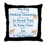 Herding Top Handler Throw Pillow