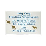 Herding Top Handler Rectangle Magnet (100 pack)