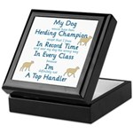 Herding Top Handler Keepsake Box