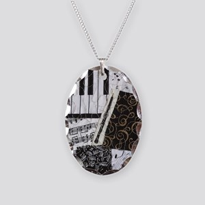 0505-sq-oboe Necklace Oval Charm