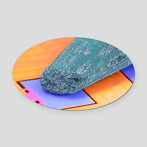 Coloured SEM of micro-acceleromete Oval Car Magnet