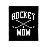 Hockey mom Fleece Blankets