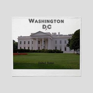 WashingtonDC_13x13_WhiteHouse1 Throw Blanket