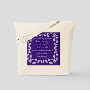 Bible Verse John 14 6 Tote Bag