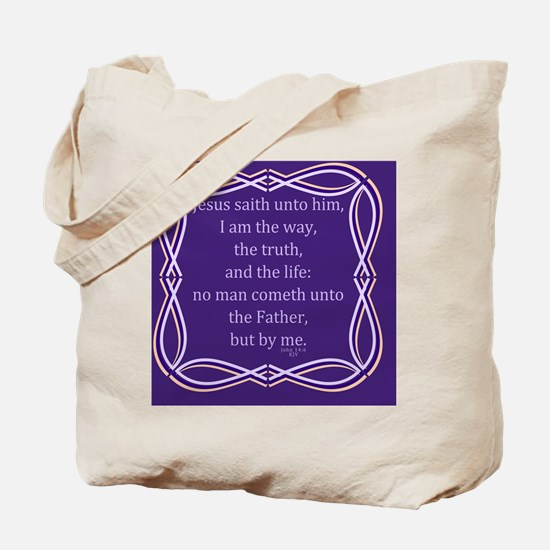 Bible Verse John 14 6 Tote Bag