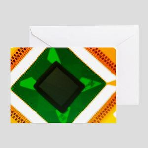 Computer microchip Greeting Card