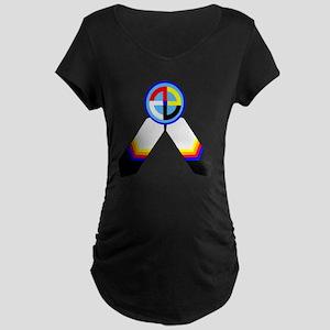 NATIVE PRIDE Maternity Dark T-Shirt