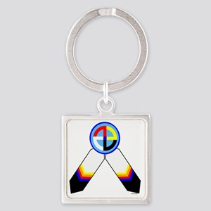 NATIVE PRIDE Square Keychain