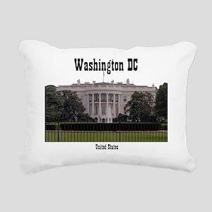 WashingtonDC_13x13_White Rectangular Canvas Pillow