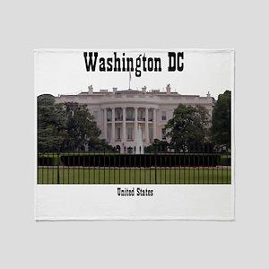 WashingtonDC_13x13_WhiteHouse2 Throw Blanket