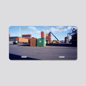 Container port Aluminum License Plate