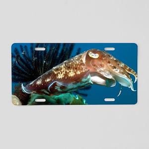 Broadclub cuttlefish Aluminum License Plate