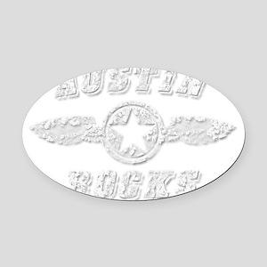 AUSTIN ROCKS Oval Car Magnet