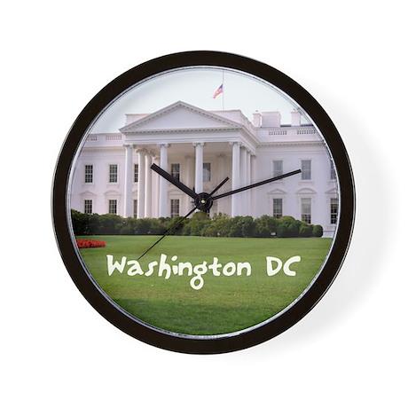 WashingtonDC_10X8_puzzle_mousepad_White Wall Clock