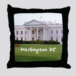 WashingtonDC_10X8_puzzle_mousepad_Whi Throw Pillow