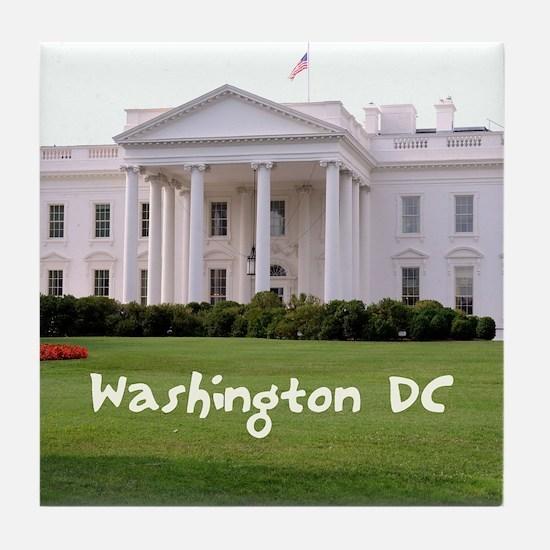 WashingtonDC_10X8_puzzle_mousepad_Whi Tile Coaster