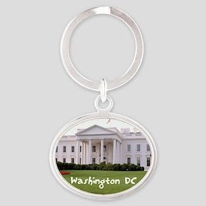 WashingtonDC_10X8_puzzle_mousepad_Wh Oval Keychain