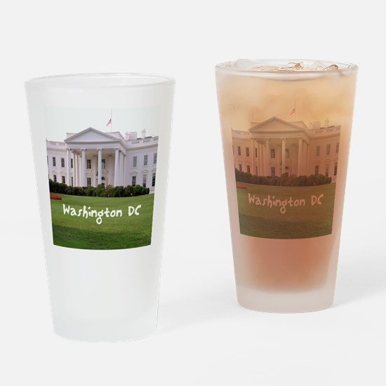 WashingtonDC_10X8_puzzle_mousepad_W Drinking Glass