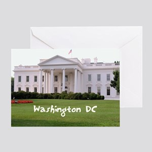 WashingtonDC_10X8_puzzle_mousepad_Wh Greeting Card