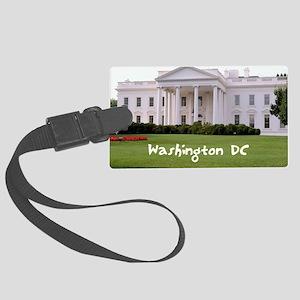 WashingtonDC_10X8_puzzle_mousepa Large Luggage Tag