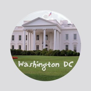 WashingtonDC_10X8_puzzle_mousepad_W Round Ornament