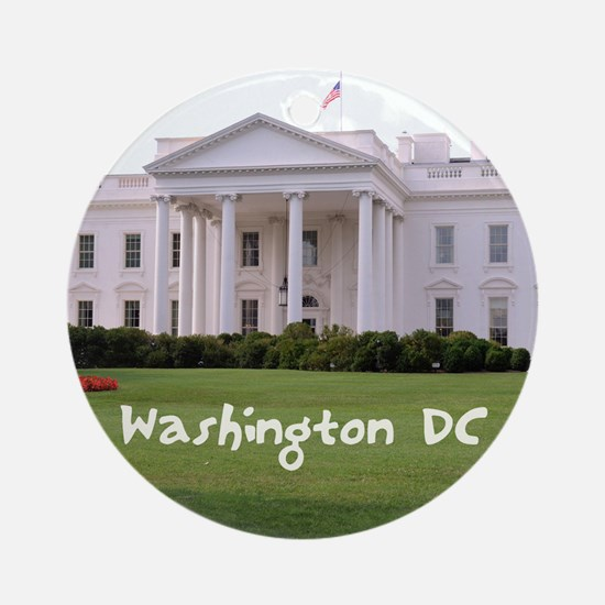WashingtonDC_10X8_puzzle_mousepad_W Round Ornament