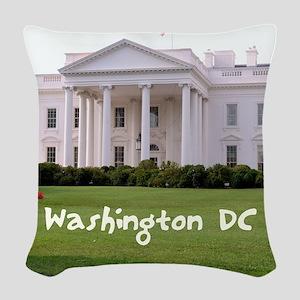 WashingtonDC_10X8_puzzle_mouse Woven Throw Pillow