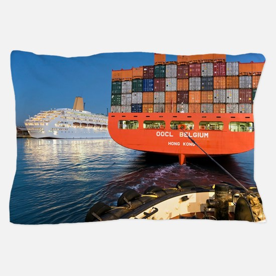 Container ship Pillow Case