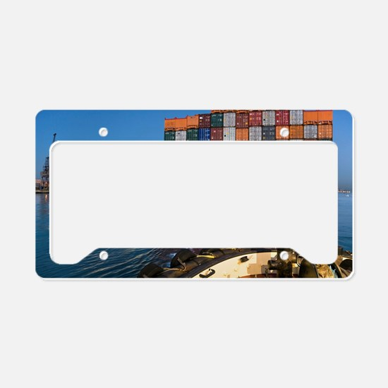 Container ship License Plate Holder