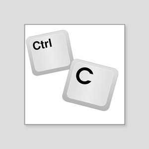 "Control C, copy Square Sticker 3"" x 3"""