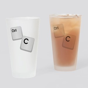 Control C, copy Drinking Glass