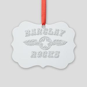 BARCLAY ROCKS Picture Ornament