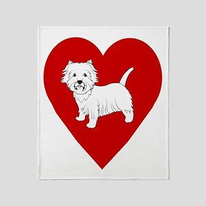 Westie Heart Throw Blanket
