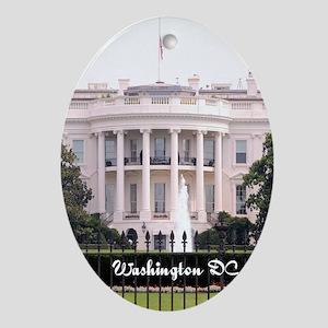 WashingtonDC_5.5x8.5_Journal_WhiteHo Oval Ornament