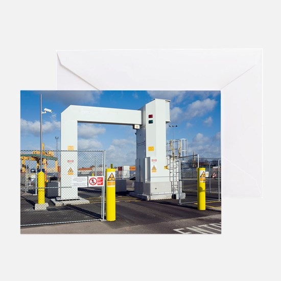Container port security Greeting Card
