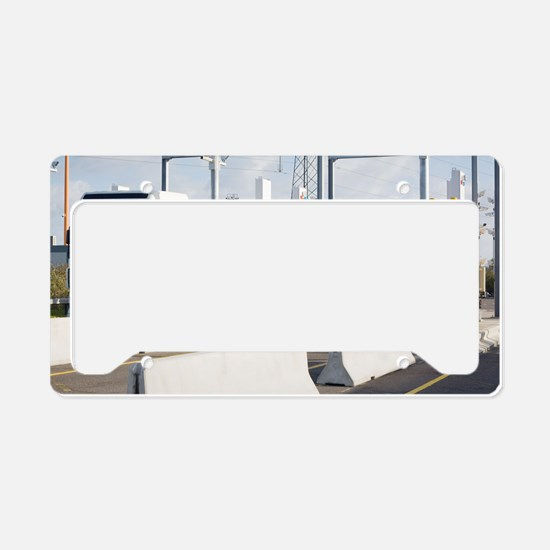 Container port security License Plate Holder