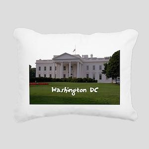 WashingtonDC_WhiteHouse1 Rectangular Canvas Pillow