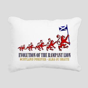 Rampant Lion Evolution d Rectangular Canvas Pillow