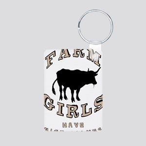 Farm Girls Aluminum Photo Keychain