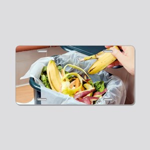 Composting kitchen waste Aluminum License Plate